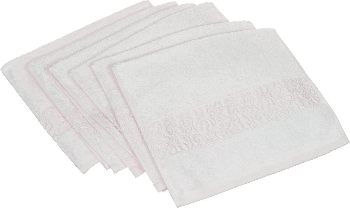 Набор полотенец Issimo Home Valencia, цвет: экрю, 30 х 50 см, 6 шт00000004816Набор Issimo Home Valencia состоит из 6 полотенец, выполненных из 60% бамбукового волокна и 40% хлопка. Такими полотенцами не нужно вытираться - только коснитесь кожи - и ткань сама все впитает. Такая ткань впитывает в 3 раза лучше, чем хлопок. Набор из маленьких полотенец-салфеток очень практичен - он станет незаменимым в дороге и в путешествиях. Кроме того, это хороший, красивый и изысканный подарок. Несмотря на богатую плотность и высокую петлю полотенец, они быстро сохнут, остаются легкими даже при намокании.