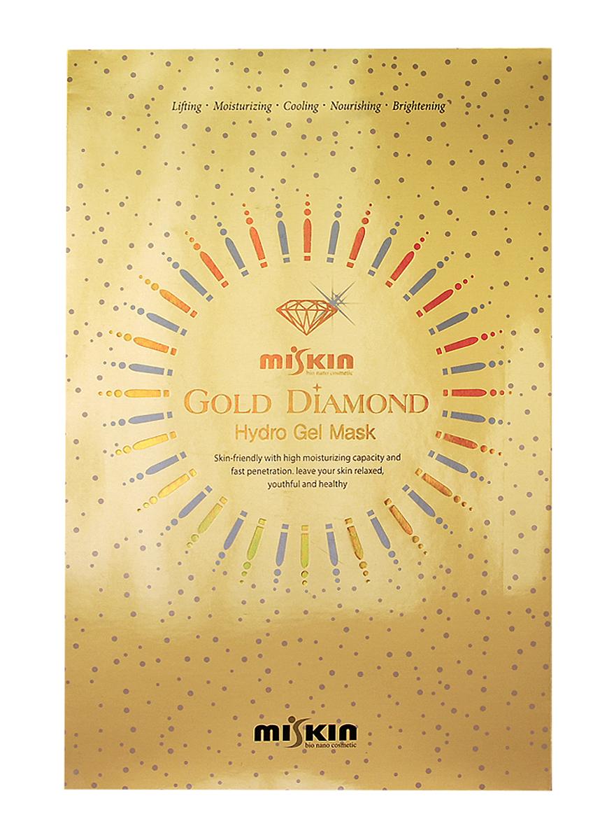 Miskin Гидрогелевая маска для лица с золотом и бриллиантовой пудрой 30 гр856Драгоценность для Вашей кожи! Уникальная гидрогелевая маска на основе золота и бриллиантовой пудры, в сочетании с растительными экстрактами, золотом и муцином улитки обеспечивает коже любого типа яркость, питание и лифтинг-эффект, а так же убирает отечность и выравнивает тон. Ваша кожа выглядит все более здоровой и молодой с каждым днем!