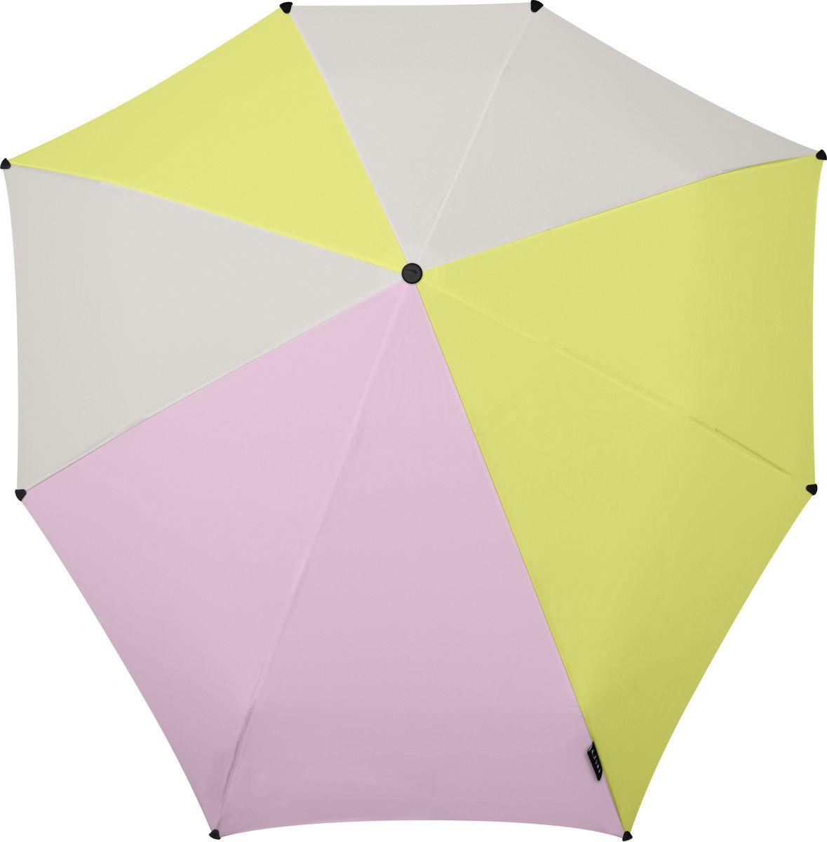 Зонт Senz, цвет: мультиколор. 10210391021039Инновационный противоштормовый зонт, выдерживающий любую непогоду. Входит в коллекцию urban breeze, разработанную в соответствии с современными течениями fashion-индустрии. Зонт Senz отлично дополнит образ, подчеркнет индивидуальность и вкус своего обладателя. Легкий, компактный и прочный он открывается и закрывается нажатием на кнопку. Закрывает спину от дождя, а благодаря своей усовершенствованной конструкции, зонт не выворачивается наизнанку даже при сильном ветре. Модель Senz automatic выдержала испытания в аэротрубе со скоростью ветра 80 км/ч. - тип — автомат - три сложения - выдерживает порывы ветра до 80 км/ч - УФ-защита 50+ - эргономичная ручка - безопасные колпачки на кончиках спиц - в комплекте плотный чехол - гарантия 2 года