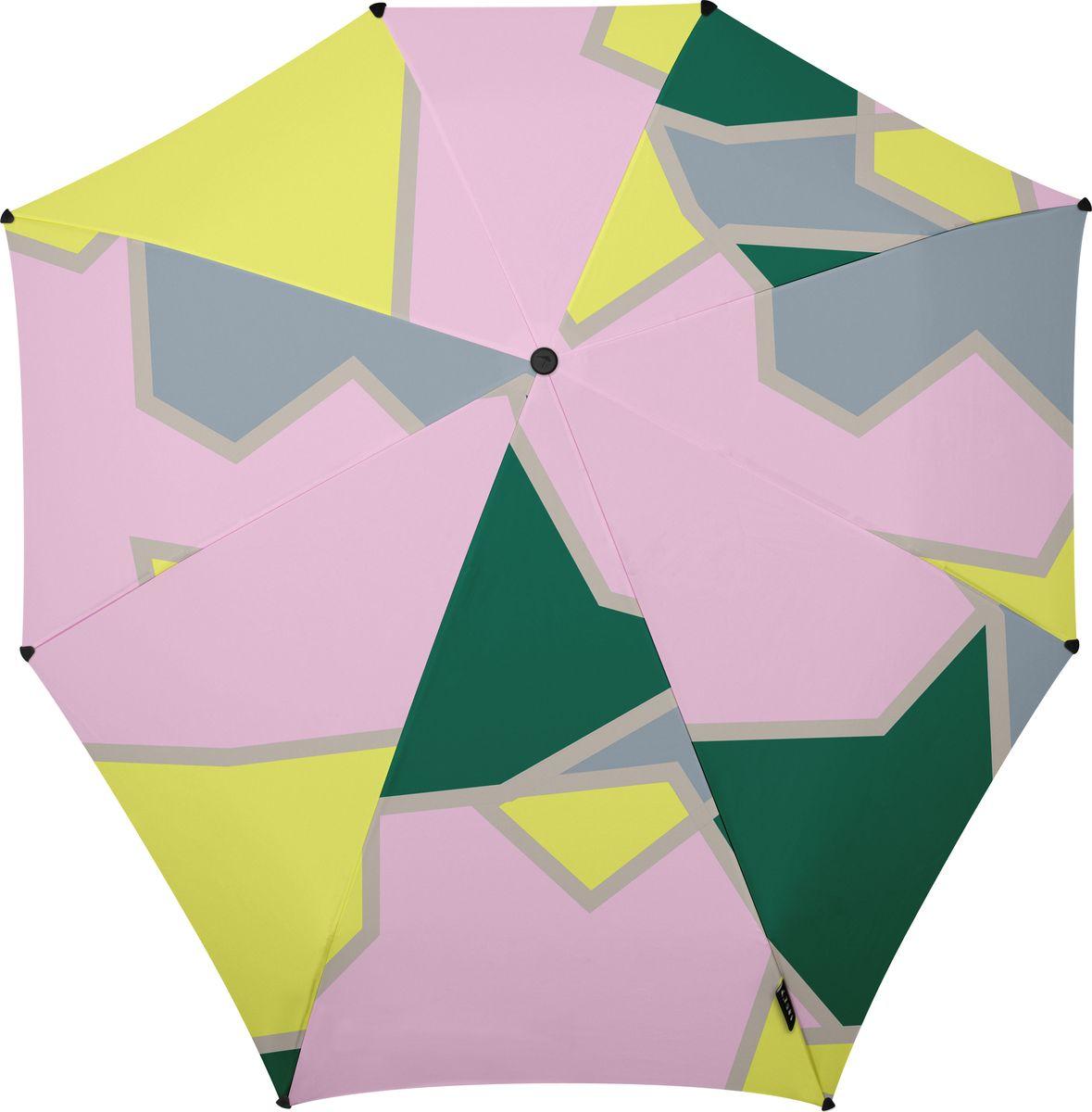 Зонт Senz, цвет: мультиколор. 10210401021040Инновационный противоштормовый зонт, выдерживающий любую непогоду. Входит в коллекцию urban breeze, разработанную в соответствии с современными течениями fashion-индустрии. Зонт Senz отлично дополнит образ, подчеркнет индивидуальность и вкус своего обладателя. Легкий, компактный и прочный он открывается и закрывается нажатием на кнопку. Закрывает спину от дождя, а благодаря своей усовершенствованной конструкции, зонт не выворачивается наизнанку даже при сильном ветре. Модель Senz automatic выдержала испытания в аэротрубе со скоростью ветра 80 км/ч. - тип — автомат - три сложения - выдерживает порывы ветра до 80 км/ч - УФ-защита 50+ - эргономичная ручка - безопасные колпачки на кончиках спиц - в комплекте плотный чехол - гарантия 2 года