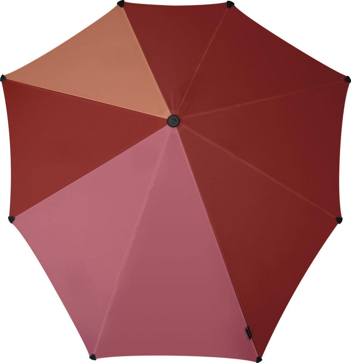 Зонт Senz, цвет: бордовый. 20110922011092Инновационный противоштормовый зонт, выдерживающий любую непогоду. Входит в коллекцию urban breeze, разработанную в соответствии с современными течениями fashion-индустрии. Зонт Senz отлично дополнит образ, подчеркнет индивидуальность и вкус своего обладателя. Легкий, компактный и прочный он открывается и закрывается нажатием на кнопку. Закрывает спину от дождя, а благодаря своей усовершенствованной конструкции, зонт не выворачивается наизнанку даже при сильном ветре. Модель Senz automatic выдержала испытания в аэротрубе со скоростью ветра 80 км/ч. - тип — автомат - три сложения - выдерживает порывы ветра до 80 км/ч - УФ-защита 50+ - эргономичная ручка - безопасные колпачки на кончиках спиц - в комплекте плотный чехол - гарантия 2 года