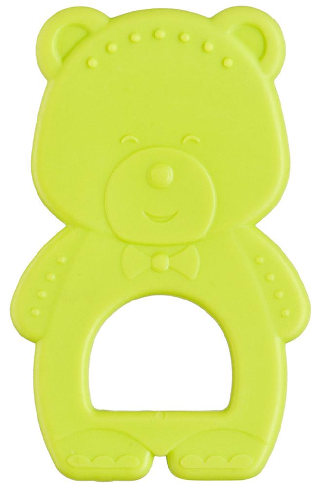 Happy Baby Прорезыватель Мишка от 6 месяцев цвет лаймовый