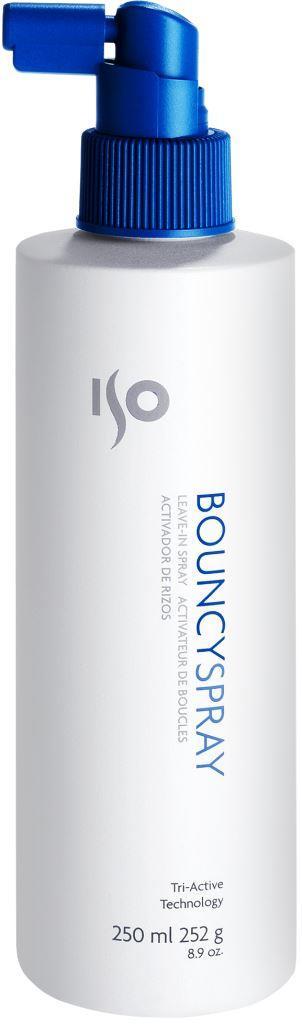 ISO Bouncy Spray - Восстанавливающий спрей для вьющихся волос, 250 мл988821Легкая консистенция, быстросохнущая формула, гибкая и долговременная фиксация. Равномерно распыляется по волосам. Не оставляет налета. Эксклюзивная технология «упругих завитков» придает энергию локонам, разделяет на пряди. Фиксирует форму даже в условиях повышенной влажности. Идеален для создания хрустящих, жестких локонов. Многофункциональное средство – дает самые разнообразные возможности для воплощения фантазий по стайлингу. Результат: Хрустящие, блестящие локоны, объемные волосы, зафиксированная прическа, защищенная от влажности. Секреты применения: Четвертый шаг для создания прекрасных локонов! Для прикорневого объема на любых волосах (для этого приподнять волосы и нанести на прикорневую зону, уложить феном). Можно использовать как фиксирующий жидкий лак для волос.