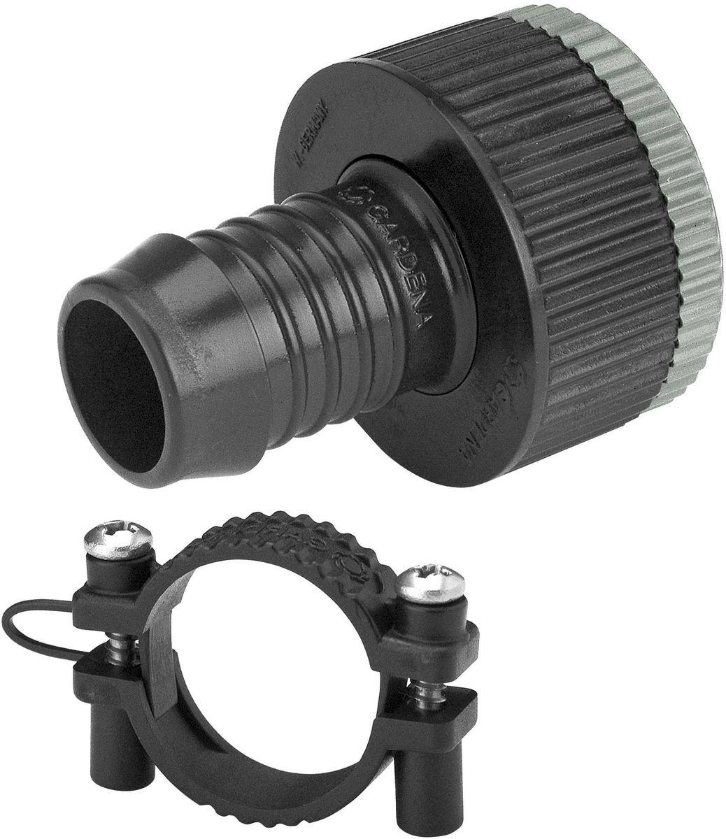 Штуцер Gardena, резьбовой. 01513-27.000.0001513-27.000.00Адаптерная вставка GARDENA предназначена для создания устойчивого к постоянному давлению шлангового соединения между водопроводным краном и входной колонкой GARDENA (арт. 2722-20). При подсоединении клапана для полива или водозаборной колонки, как правило, создается постоянное давление. Адаптерная вставка подходит для кранов с резьбой 26,5 мм (G 3/4) и 33,3 мм (G 1), а также для шлангов диаметром 19 мм (3/4). В комплект поставки входит хомут для крепления шланга. Кроме того, адаптерная вставка может использоваться для перехода с подающего шланга 19 мм (3/4) на шланг 25 мм с соединителем GARDENA, наружная резьба 25 мм х 1 (арт. 2763-20).