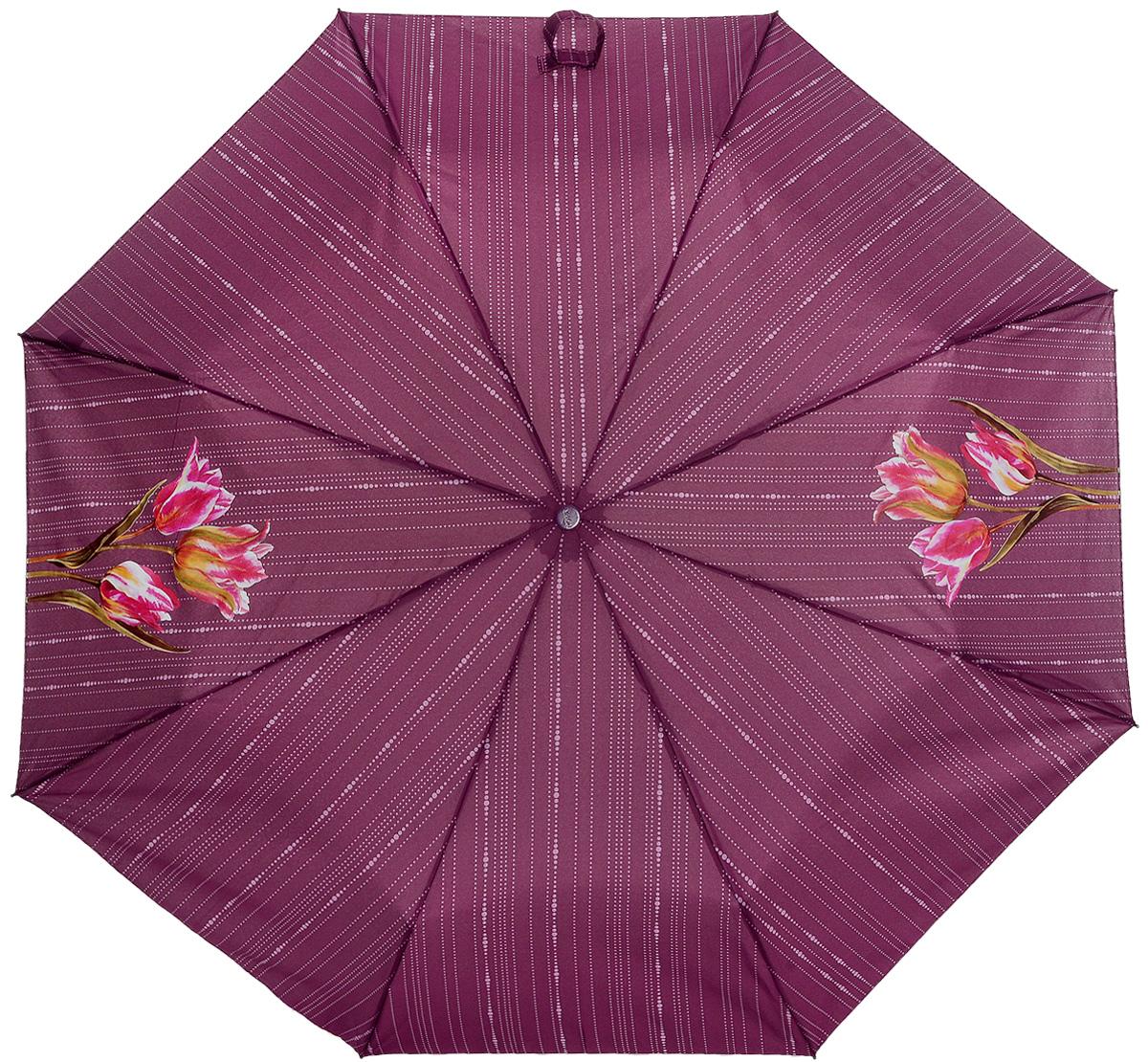 Зонт женский Airton, механический, 3 сложения, цвет: бордовый, зеленый. 3511-1783511-178Классический женский зонт Airton в 3 сложения имеет механическую систему открытия и закрытия. Каркас зонта выполнен из восьми спиц на прочном стержне. Купол зонта изготовлен из прочного полиэстера. Практичная рукоятка закругленной формы разработана с учетом требований эргономики и выполнена из качественного пластика с противоскользящей обработкой. Такой зонт оснащен системой антиветер, которая позволяет спицам при порывах ветрах выгибаться наизнанку, и при этом не ломаться. К зонту прилагается чехол.