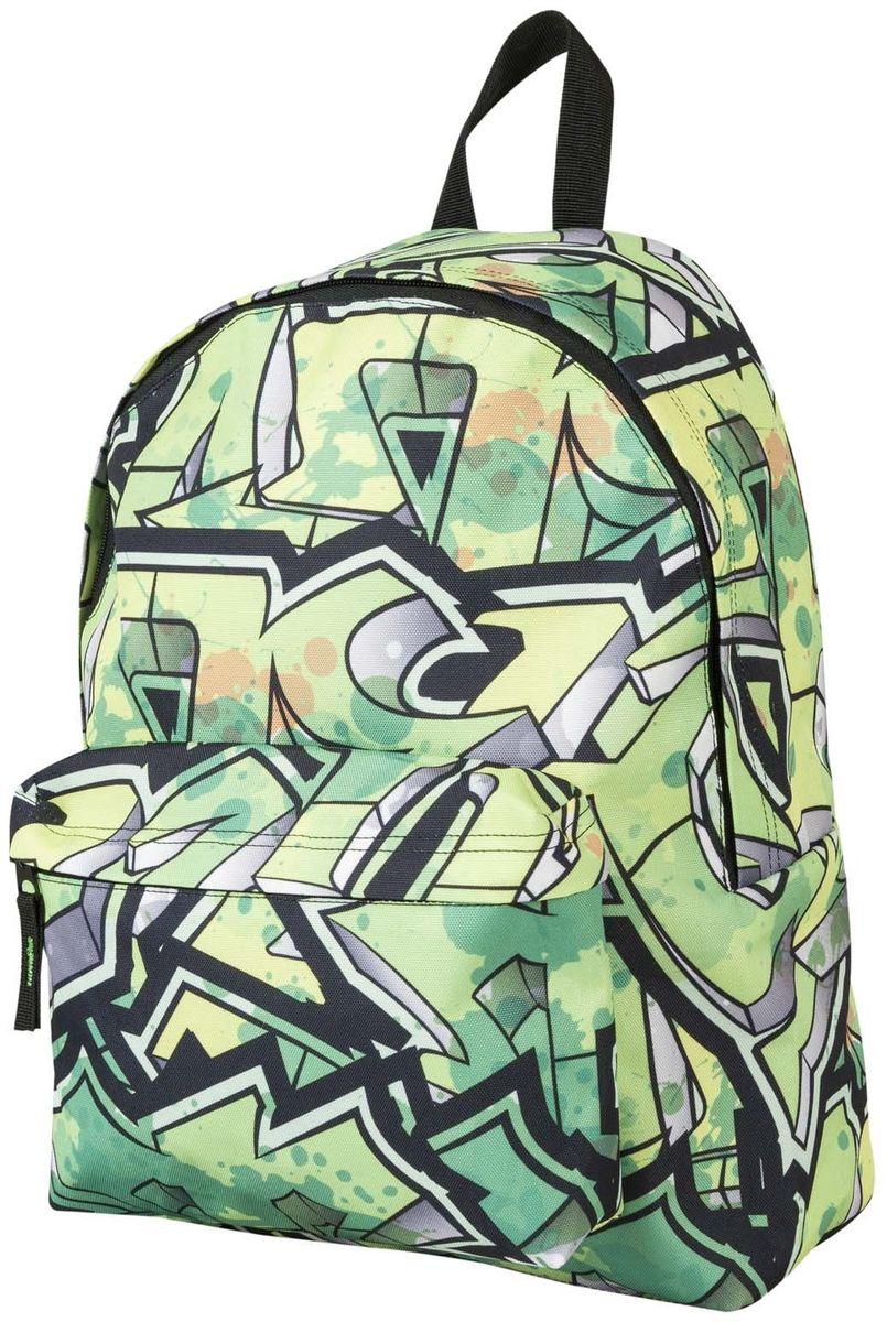 Target Collection Рюкзак Green Graphite 1737817378Рюкзак молодежный с одним большим отделением, на передней стенке рюкзака большой карман на молнии, дополнительная ручка-петля, регулируемые лямки
