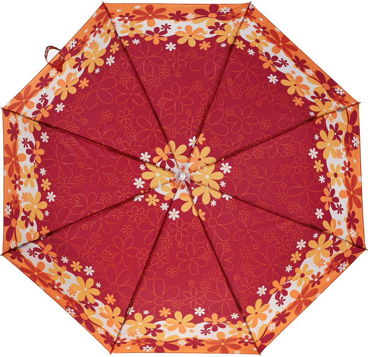 Зонт женский Prize, механический, 3 сложения, цвет: красный, оранжевый. 355-416355-416Классический женский зонт в 3 сложения с механической системой открытия и закрытия. Удобная ручка выполнена из пластика. Модель зонта выполнена в стандартном размере. Данная модель пердставляет собой эконом класс.