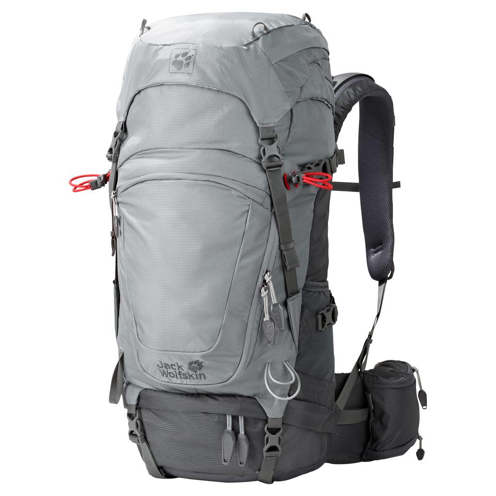 Рюкзак туристический Jack Wolfskin Highland Trail 36, цвет: серый. 2004631-60382004631-6038Рюкзак туристический Jack Wolfskin идеально сидит и превосходно вентилируется, подходит как для однодневных, так и для многодневных походов. Для высокого уровня комфорта при ношении использована поддерживающая система. Она полностью ориентирована на высокий контроль нагрузки при большой подвижности. За счет минимизации контактных поверхностей мы добиваемся максимальной вентиляции. В путешествии с Highland Trail 36 ваше снаряжение всегда хорошо организовано. Клапанное отделение можно регулировать по высоте или полностью отстегнуть. Для облегчения доступа рюкзак оснащен застежкой-молнией по кругу. На поясном ремне расположены дополнительные карманы, один из которых можно использовать как футляр для бутылки.