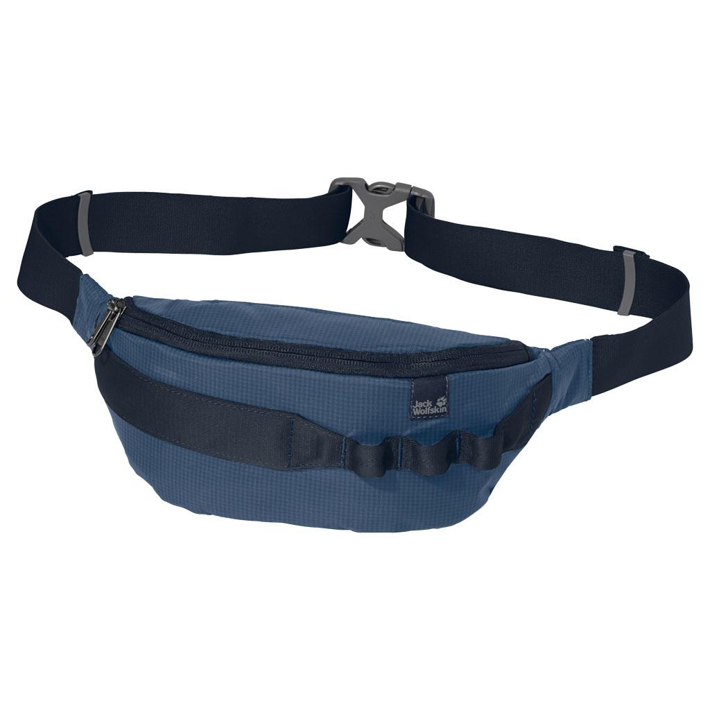 Сумка на пояс Jack Wolfskin Hip n Sling, цвет: синий. 8002231-15888002231-1588Маленькая поясная сумка для необходимых мелких предметов. Модель с одним отделением на молнии, регулируется в объеме при помощи фастекса.
