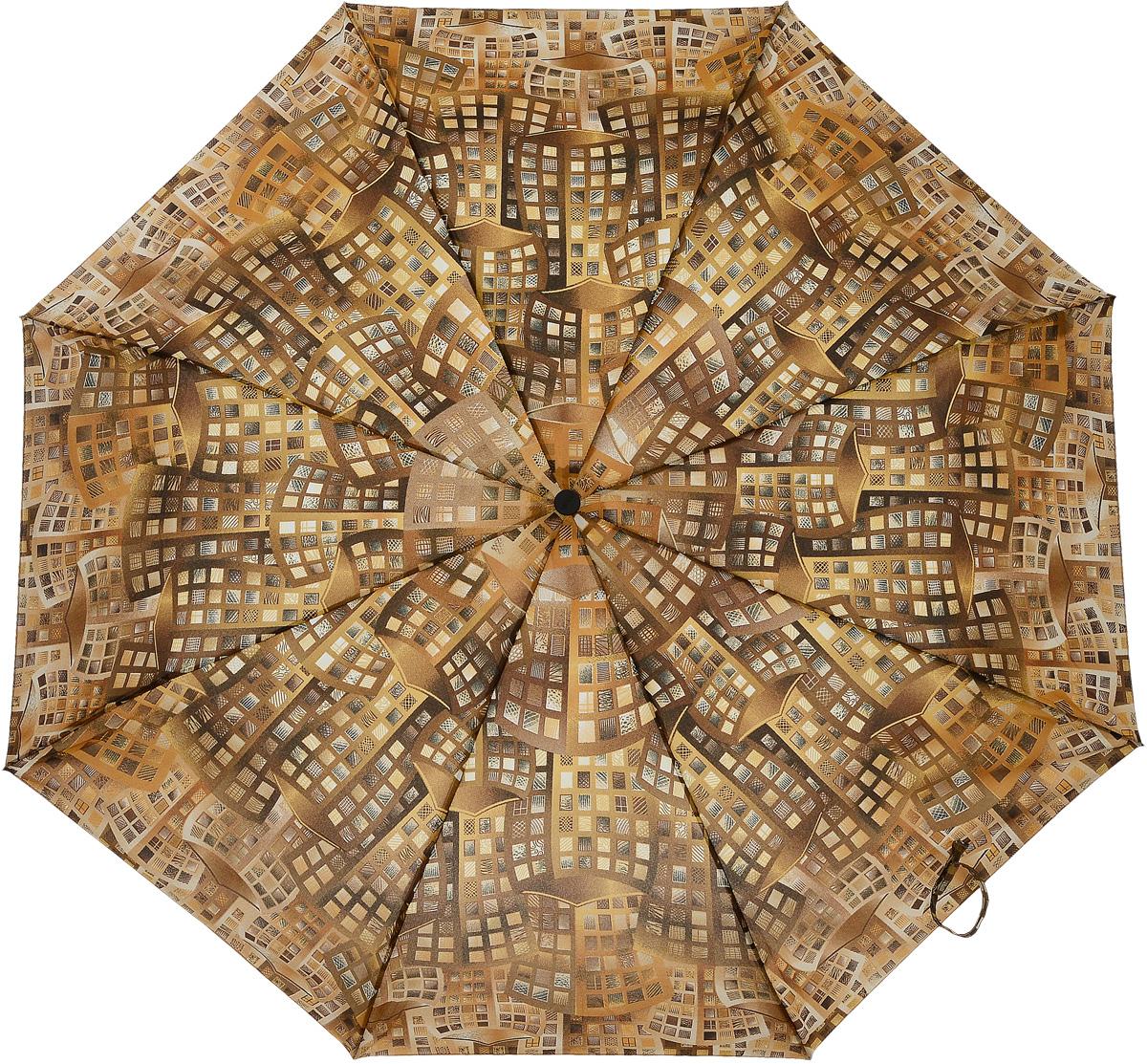 Зонт женский Airton, механический, 3 сложения, цвет: оранжевый, шоколадный. 3515-1693515-169Классический женский зонт Airton в 3 сложения имеет механическую систему открытия и закрытия. Каркас зонта выполнен из восьми спиц на прочном стержне. Купол зонта изготовлен из прочного полиэстера. Практичная рукоятка закругленной формы разработана с учетом требований эргономики и выполнена из качественного пластика. Такой зонт оснащен системой антиветер, которая позволяет спицам при порывах ветрах выгибаться наизнанку, и при этом не ломаться. К зонту прилагается чехол.