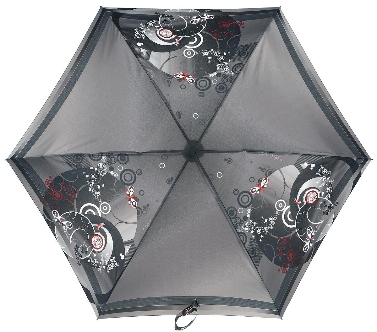 Зонт женский Zest, механический, 5 сложений, цвет: темно-серый, белый. 25516-003225516-0032Зонт классической модели из мягкой и приятной на ощупь ткани, знаменитое венгерское качество имеющее многовековую традицию.