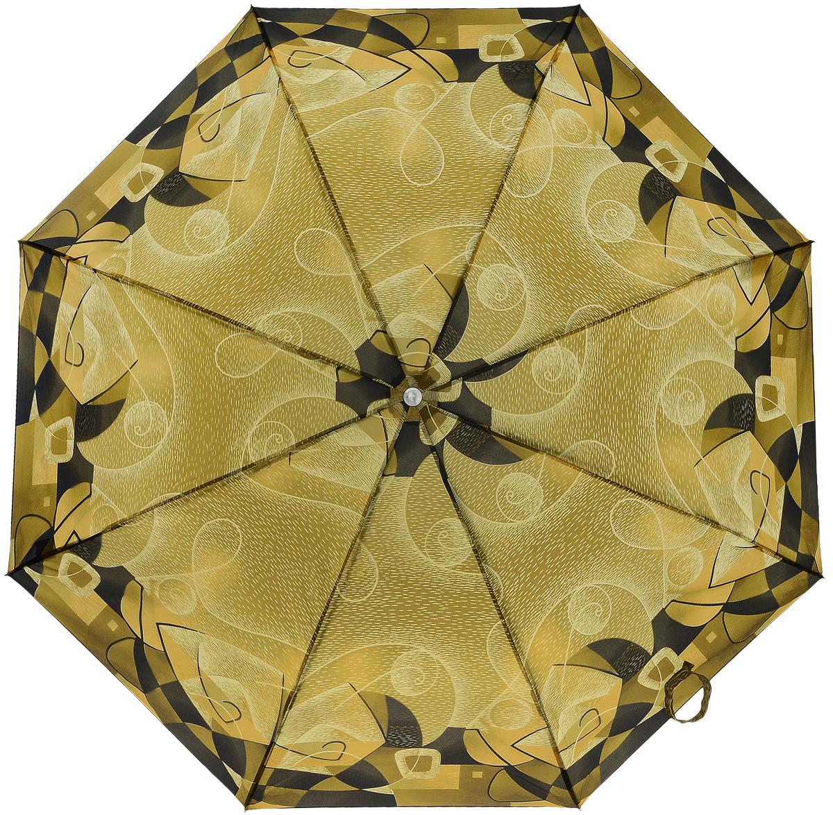 Зонт женский Prize, механический, 3 сложения, цвет: бежевый, темно-бежевый. 355-125355-125Классический женский зонт в 3 сложения с механической системой открытия и закрытия. Удобная ручка выполнена из пластика. Модель зонта выполнена в стандартном размере. Данная модель пердставляет собой эконом класс.