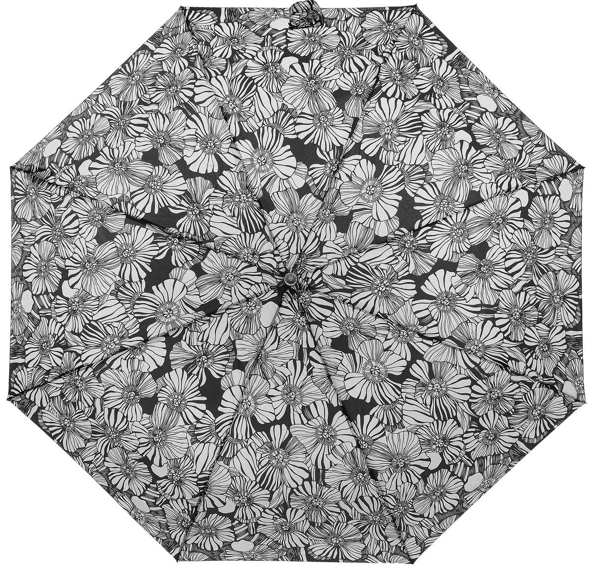 Зонт женский Prize, механический, 3 сложения, цвет: белый, черный. 355-8039355-8039Классический женский зонт в 3 сложения с механической системой открытия и закрытия. Удобная ручка выполнена из пластика. Модель зонта выполнена в стандартном размере. Данная модель пердставляет собой эконом класс.