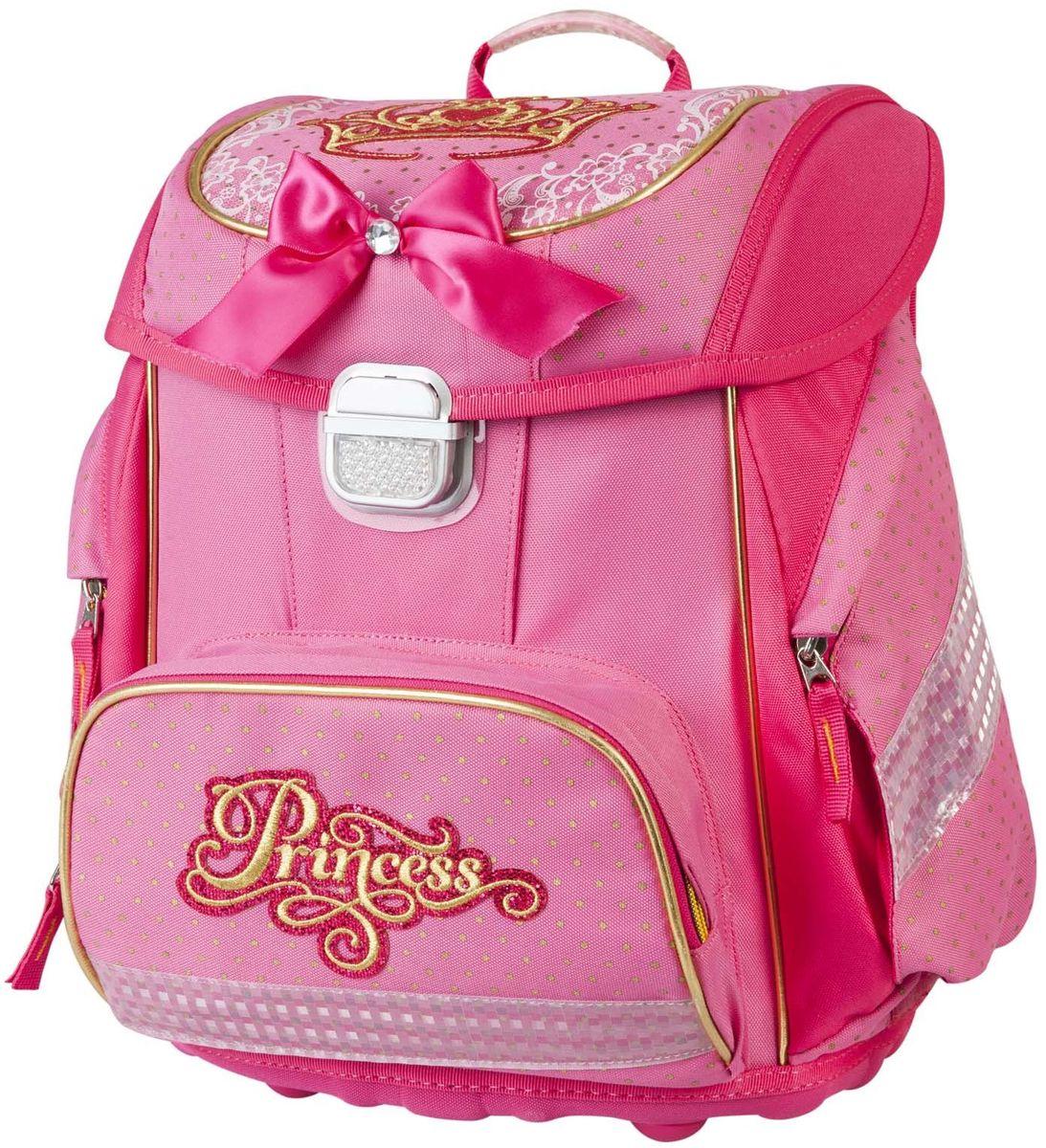 Target Collection Ранец школьный Принцесса 1790617906Детский рюкзак бренда «Target Collection» имеет яркий рисунок и изготовлен из современных, прочных материалов. Техническими особенностями рюкзака (портфелей) «Target Collection» является система «Flexiball» (поясничная поддержка), которая оптимально адаптирована для ребенка. Ведь самое главное, чтобы ребенок имел правильную осанку во время переноски портфеля. Система «Flexiball» является новшеством в промышленности, она правильно распределяет вес мешка, автоматически подстраивается под ребенка и поэтому обеспечивает идеальное положение для поясничной поддержки. Во время прогулки, система «Flexiball» движется вместе с ребенком, за счет гибкого материала уменьшает нагрузку при ходьбе. Портфель имеет форму куба, пригодную для учащихся начальных классов. Плечевые лямки можно отрегулировать для каждого ребенка индивидуально, поэтому получается что он «растет» вместе с ребенком. Лямки содержат вентиляционные отверстия и тем самым имеют возможность дышать. Они дополнительно оснащены...