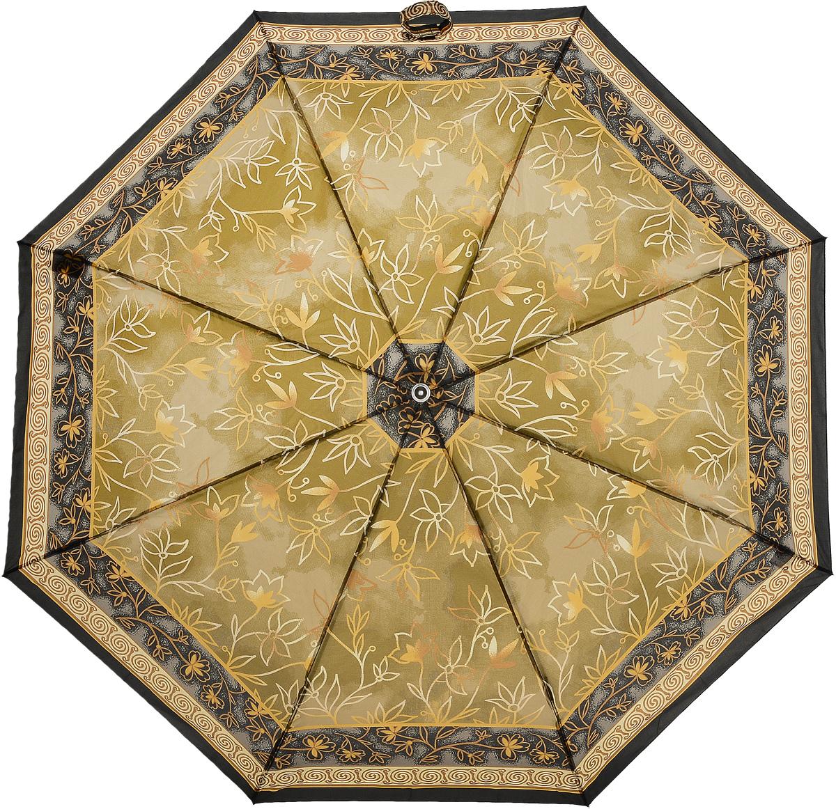 Зонт женский Prize, механический, 3 сложения, цвет: коричневый, темно-коричневый. 355-081355-081Классический женский зонт в 3 сложения с механической системой открытия и закрытия. Удобная ручка выполнена из пластика. Модель зонта выполнена в стандартном размере. Данная модель пердставляет собой эконом класс.