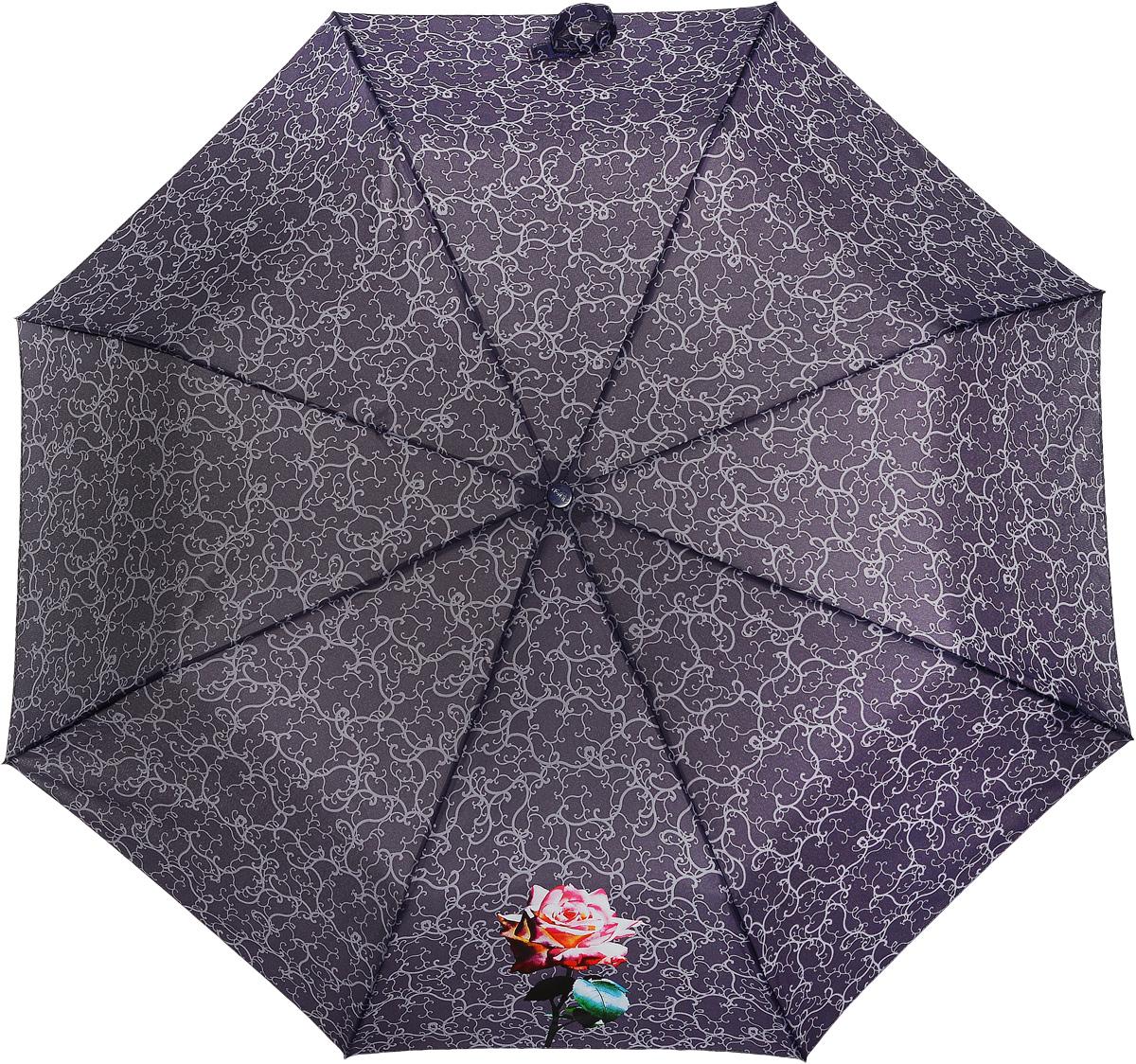 Зонт женский Airton, механический, 3 сложения, цвет: красно-коричневый, оранжевый. 3511-2003511-200Оригинальный однотонный женский зонт в 3 сложения с миниатюрным цветочным принтом. Данная модель оснащена механической системой открытия и закрытия. Удобная ручка выполнена из пластика в тон основному цвету купола зонта. Модель зонта выполнена в стандартном размере, оснащена системой Антиветер. Этот стильный аксессуар поместится практически в любую женскую сумочку благодаря своим небольшим размерам.