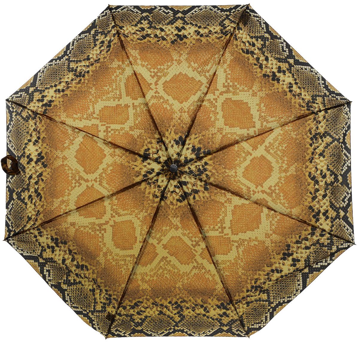 Зонт женский Prize, механический, 3 сложения, цвет: оранжевый, шоколадный. 355-084355-084Классический женский зонт в 3 сложения с механической системой открытия и закрытия. Удобная ручка выполнена из пластика. Модель зонта выполнена в стандартном размере. Данная модель пердставляет собой эконом класс.