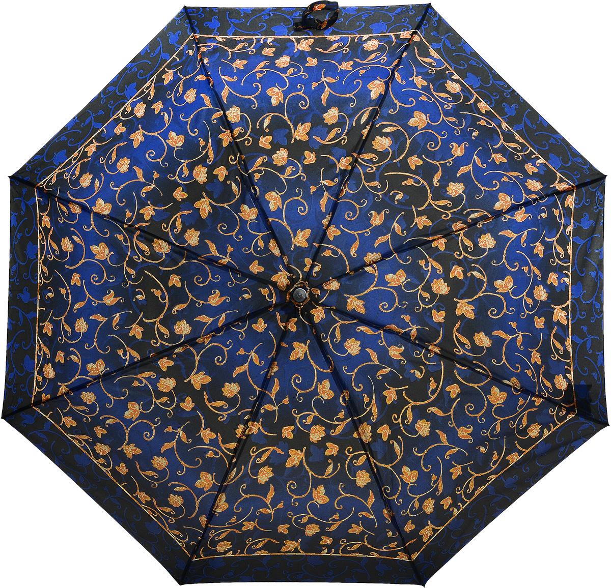 Зонт женский Prize, механический, 3 сложения, цвет: синий, фиолетовый. 355-131355-131Классический женский зонт в 3 сложения с механической системой открытия и закрытия. Удобная ручка выполнена из пластика. Модель зонта выполнена в стандартном размере. Данная модель пердставляет собой эконом класс.