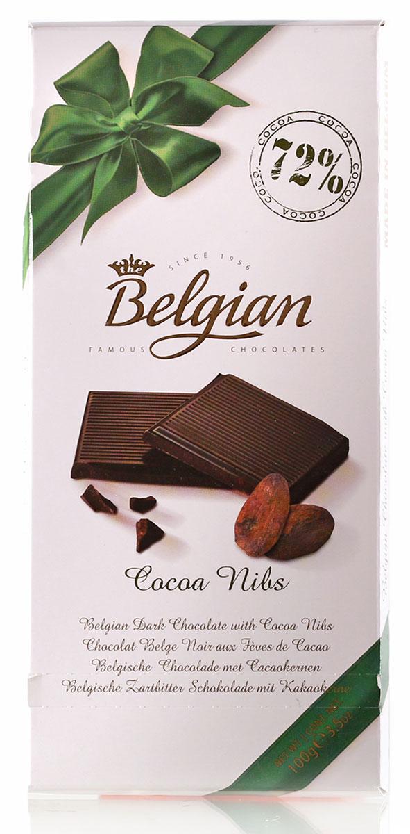 The Belgian Шоколад горький 72% какао с какао бобами, 100 г 7.33.03