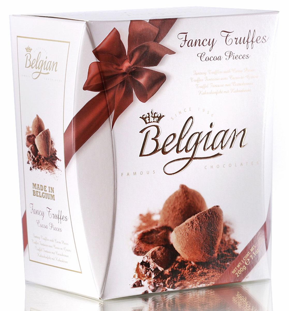 The Belgian Трюфели со вкусом какао, 200 г7.37.17В аромате конфет преобладают оттенки какао-бобов, украшенные легкими ванильными нотками. Конфеты составят прекрасную пару с чаем, кофе или капучино. Их можно предложить детям к молоку или какао. Трюфели станут замечательным дополнением к бокалу виски.