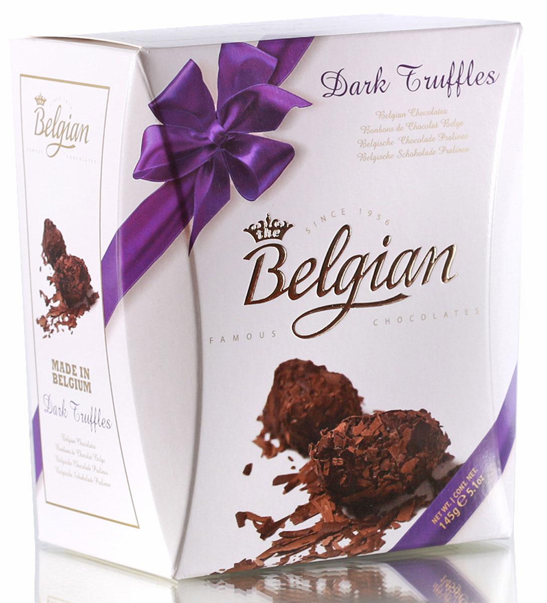 The Belgian Трюфели из горького шоколада в хлопьях, 145 г7.37.06Конфеты демонстрируют насыщенный горьковато-сладкий вкус темного шоколада. Трюфели составят великолепное сочетание с кофе, капучино и чаем. Они прекрасно дополнят вкус красных сухих вин и портвейна, деликатно подчеркнут достоинства коньяка, арманьяка и бренди.