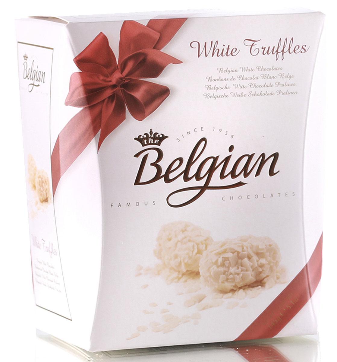 The Belgian Трюфели из белого шоколада в хлопьях, 145 г7.37.05Сладкий, нежный и мягкий белый шоколад, наполненный чудесными сливочно-карамельными тонами, приятно контрастирует с хрустящими хлопьями. Трюфели замечательно гармонируют с чаем, кофе и капучино. Их можно подать к молоку или какао.