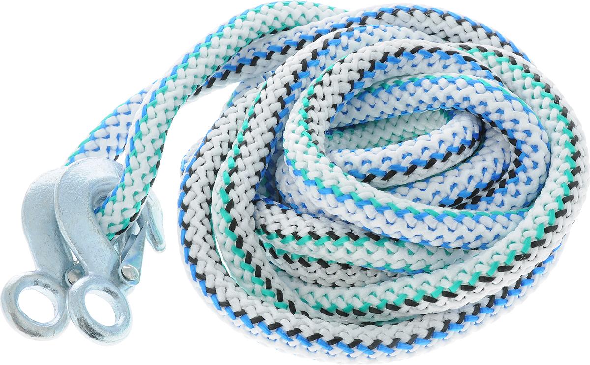 Трос-шнур альпинистский Главдор, с 2 крюками, диаметр 20 мм, 12 т, 4,6 м. GL-256GL-256Альпинистский трос-шнур Главдор представляет собой веревку из полипропилена с двумя стальными крюками. Специальное плетение троса обеспечивает эластичность троса. На протяжении всего срока службы не меняет свои линейные размеры. Трос морозостойкий, влагостойкий и устойчив к агрессивным средами воздействию нефтепродуктов. Максимальная нагрузка: 12 т. Длина троса: 460 см. Диаметр троса: 20 мм.