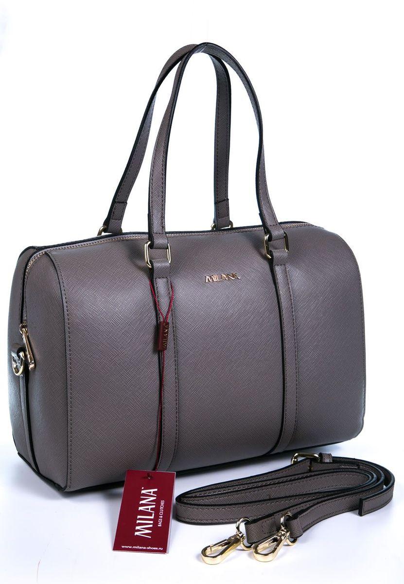 Сумка женская Milana, цвет: серый. 161644-2-111161644-2-111Стильная женская сумка Milana изготовлена из искусственной кожи. Внутренняя подкладка выполнена из искусственного шелка. Сумка закрывается на застежку молнию. Внутри имеется одно основное отделение, которое оснащено накладным открытым карманом. Модель оснащена ручками на запястье и удобным съемным ремешком на плечо. Оригинальный аксессуар позволит вам завершить образ и быть неотразимой.