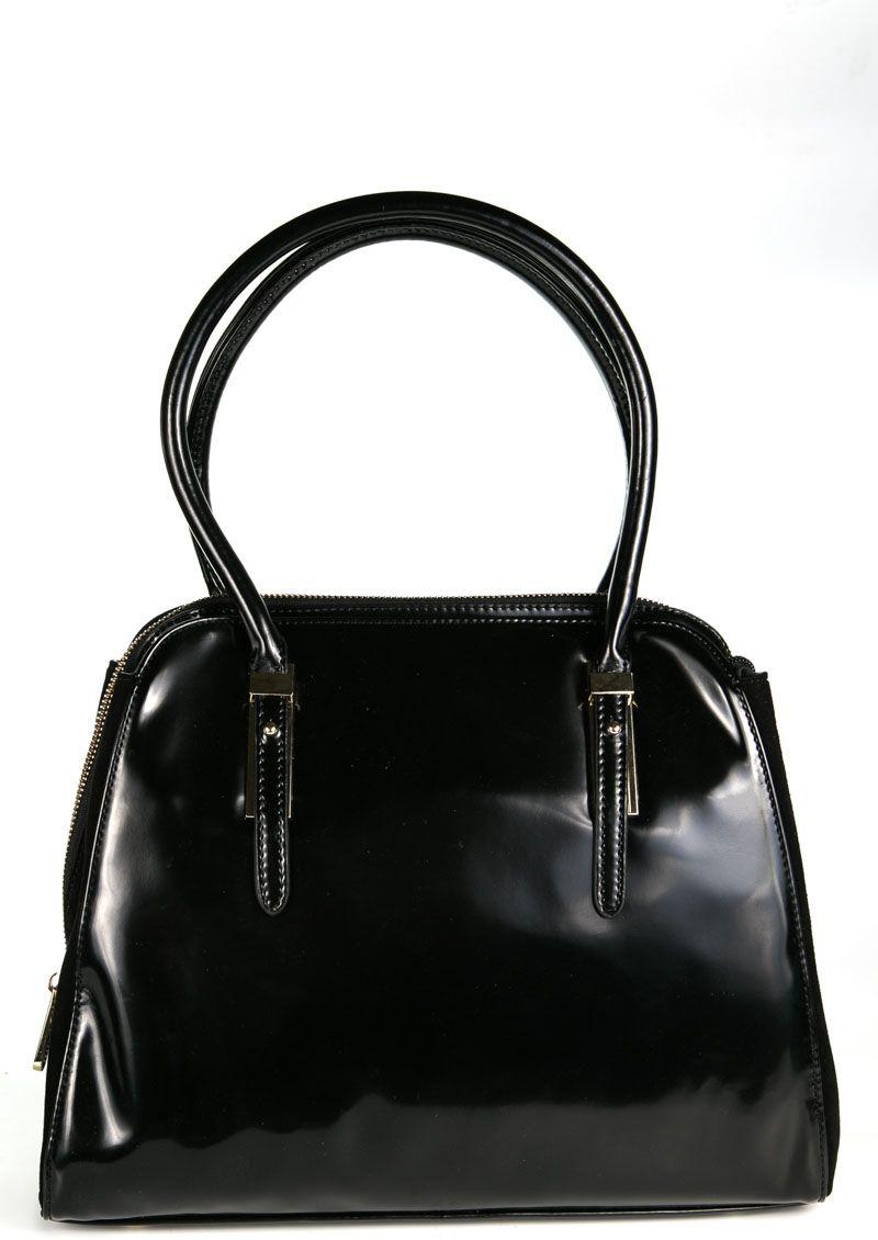 Сумка женская Milana, цвет: черный. 162657-1-710162657-1-710Стильная женская сумка Milana изготовлена из искусственной кожи. Внутренняя подкладка выполнена из искусственного шелка. Сумка закрывается на застежку молнию. Внутри имеется одно основное отделение, которое оснащено одним втачным карманом на молнии и двумя накладными открытыми кармашками. Задняя боковая стенка дополнена втачным карманом на застежке-молнии. Модель оснащена ручками на запястье. Оригинальный аксессуар позволит вам завершить образ и быть неотразимой.
