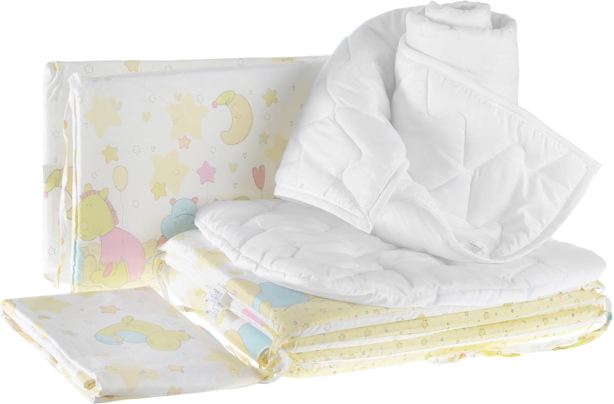 Baby Nice Комплект в кроватку Звездопад цвет желтый 9 предметов