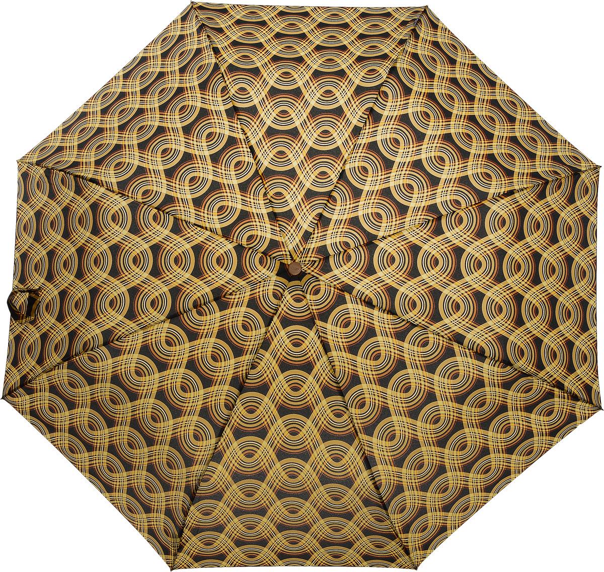 Зонт женский Airton, механический, 3 сложения, цвет: черный, оранжевый. 3535-1463535-146Классический женский зонт в 3 сложения имеет механическую систему открытия и закрытия. Каркас зонта выполнен из восьми спиц на прочном стержне. Купол зонта изготовлен из прочного полиэстера. Практичная рукоятка закругленной формы разработана с учетом требований эргономики и выполнена из натурального дерева. Такой зонт оснащен системой антиветер, которая позволяет спицам при порывах ветрах выгибаться наизнанку, и при этом не ломаться. К зонту прилагается чехол.