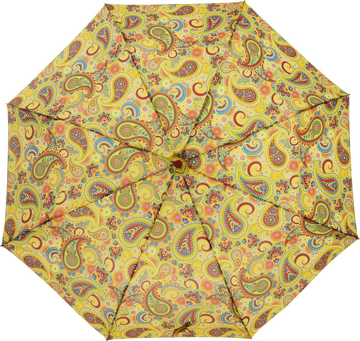 Зонт женский Airton, механический, 3 сложения, цвет: желтый, оранжевый. 3515-1243515-124Классический женский зонт в 3 сложения с механической системой открытия и закрытия. Удобная ручка выполнена из пластика. Модель зонта выполнена в стандартном размере, оснащена системой Антиветер. Этот стильный аксессуар поместится практически в любую женскую сумочку благодаря своим небольшим размерам. Вес зонта- 300 гр.