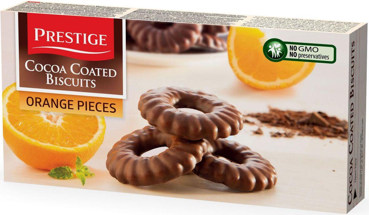 Prestige Печенье с апельсином в какао глазури, 175 г3.58.17Печенье Prestige с апельсином, покрытое какао глазурью, создано из простых и полезных ингредиентов. Насыщенный мягкий шоколадный вкус подарит массу удовольствия, сам шоколад в сочетании с печеньем зарядит энергией и бодростью с утра и на целый день.