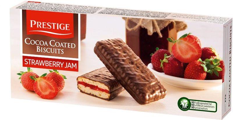 Prestige Печенье клубничное в какао глазури, 216 г