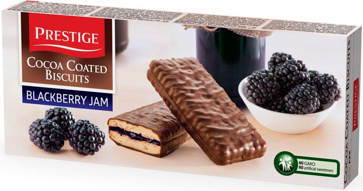 Prestige Печенье ежевичное в какао глазури, 216 г3.58.20Печенье Prestige ежевичное, покрытое какао глазурью, создано из простых и полезных ингредиентов. Насыщенный мягкий шоколадный вкус подарит массу удовольствия, сам шоколад в сочетании с печеньем зарядит энергией и бодростью с утра и на целый день.