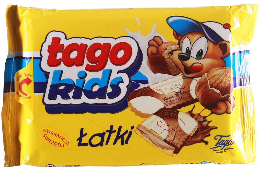 TagoKids Latki Печенье с шоколадно-ореховой начинкой, 90 г3.34.13В мире польских десертов не найти лучшего лакомства, чем признанный дуэт вкуснейшего шоколада и насыщенной ореховой начинки. Это хрустящее печенье создано для того, чтобы им насладилась каждая счастливая семья!
