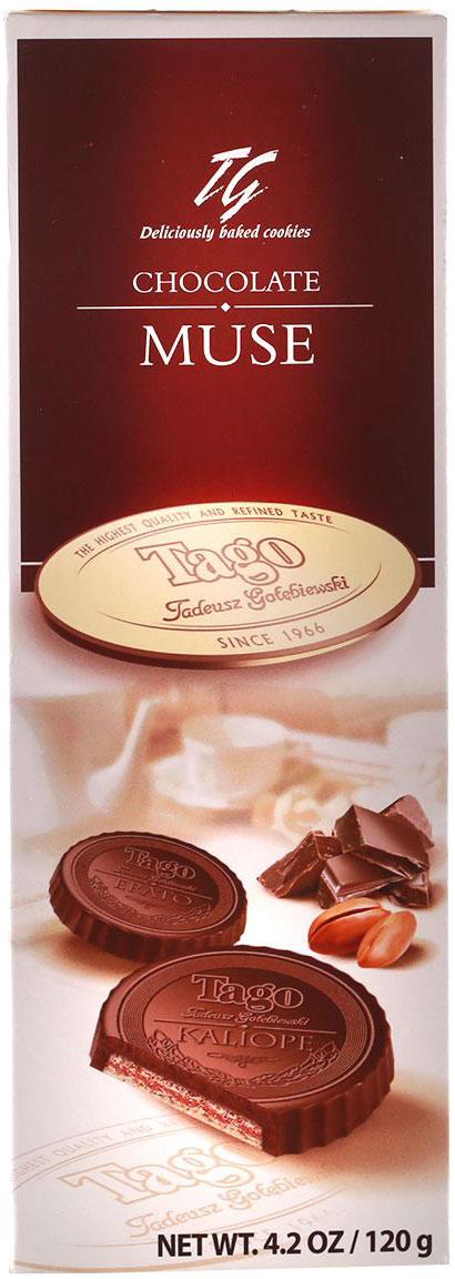 Tago Шоколадная муза Вафли с какао-ореховым вкусом, 120 г