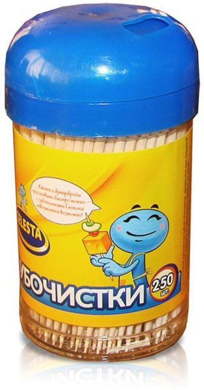 Зубочистки Celesta, 250 шт17294Изготовлены из натуральной древесины. Предназначены для чистки зубов, так же используются в кулинарии.