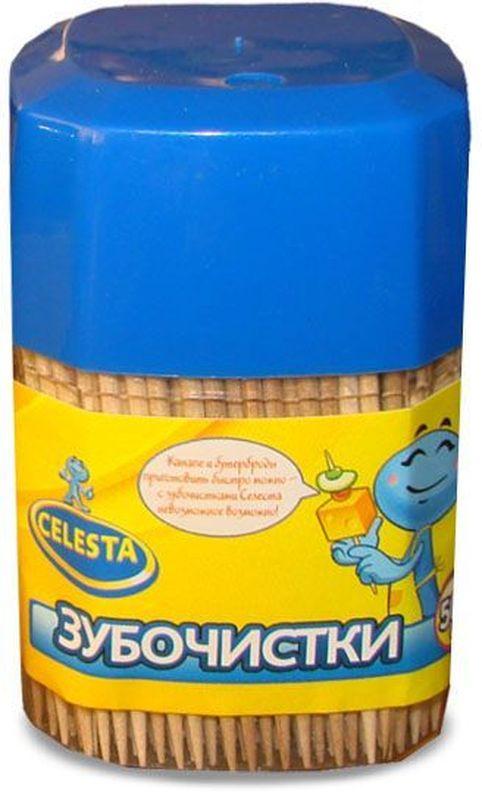 Зубочистки Celesta, 500 шт17295Изготовлены из натуральной древесины. Предназначены для чистки зубов, так же используются в кулинарии.