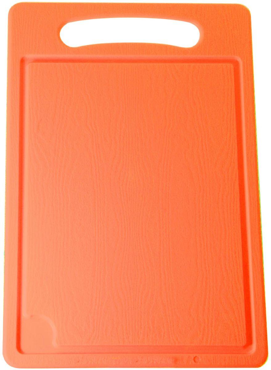 Доска разделочная Plastic Centre, цвет: оранжевый, 45 х 29 смПЦ1495МНДРазделочная доска может применяться для различных видов продуктов. Каждая доска снабжена желобком для стока жидкости для удобства применения. Доска не впитывает запахи, устойчива к воздействию ножом, благодаря чему изделие более долговечно. На кухне рекомендовано иметь несколько досок для различных видов продуктов: мяса, рыбы, хлеба и овощей.