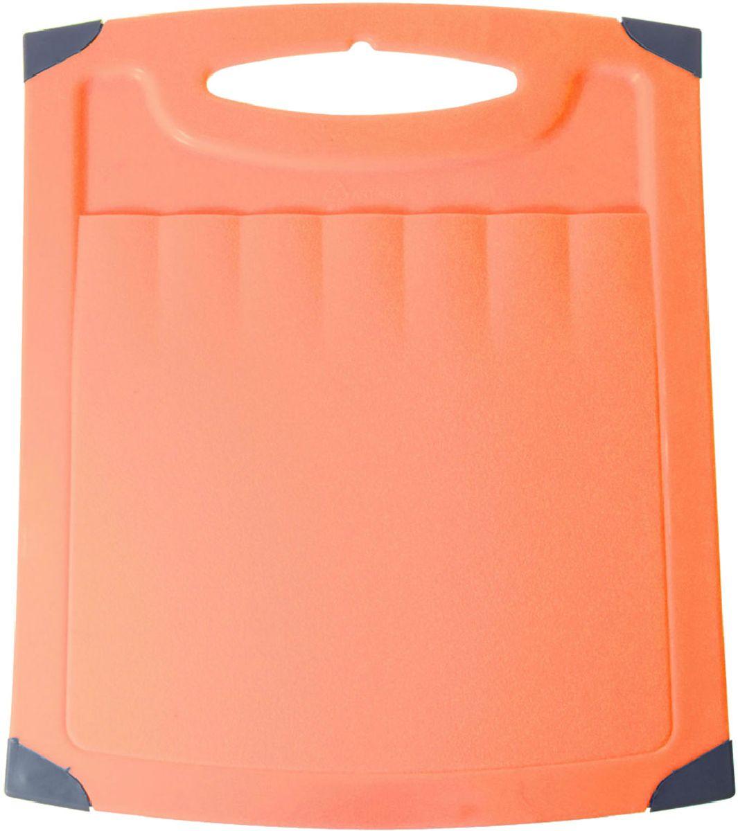 "Доска разделочная Plastic Centre ""Люкс"", цвет: оранжевый, 40 х 30 см"