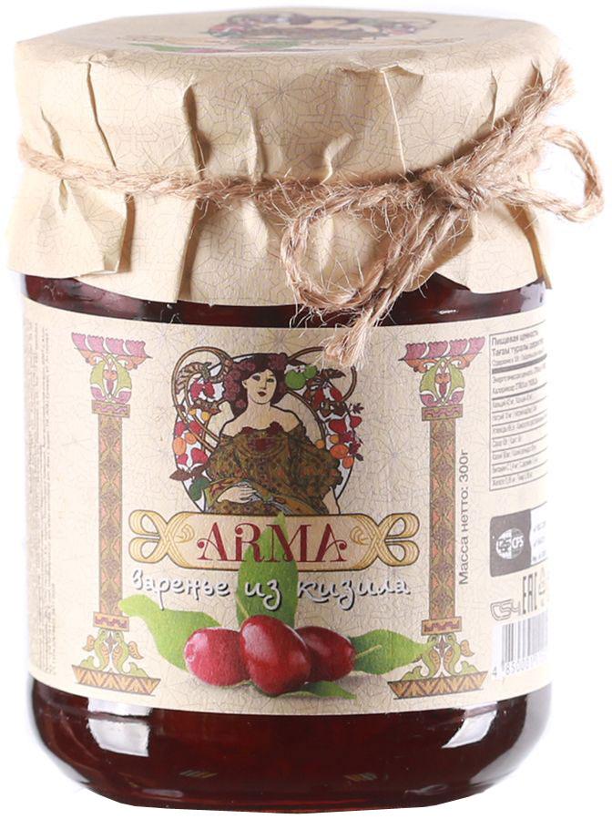 ARMA Варенье из кизила, 300 г10.52.04Известно, что кизил является богатым источником витаминов и микроэлементов. Одного только витамина С в нем больше, чем в лимонах. Кизиловое варенье Yan производится из отборных ягод горного кизила, поэтому обладает необычайным вкусом и ароматом.