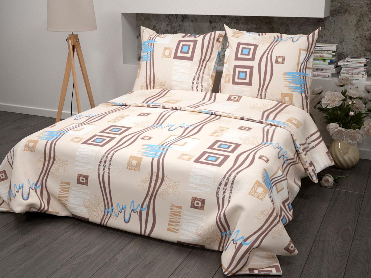 Комплект постельного белья ROKO. Пикассо, 1.5-спальный, бязь, цвет: бежевый. 115881200Для производства постельного белья используются экологичные ткани высочайшего качества. Бязь - хлопчатобумажная плотная ткань полотняного переплетения. Отличается прочностью и стойкостью к многочисленным стиркам. Бязь считается одной из наиболее подходящих тканей, для производства постельного белья и пользуется в России большим спросом.