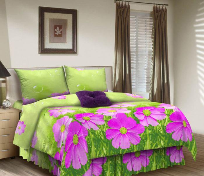 Комплект белья ROKO, 2-спальный, наволочки 70х70, цвет: розовый, салатовый, зеленый115886Комплект белья ROKO состоит из простыни, пододеяльника и 2 наволочек. Для производства постельного белья используются экологичные ткани высочайшего качества. Бязь - хлопчатобумажная плотная ткань полотняного переплетения. Отличается прочностью и стойкостью к многочисленным стиркам. Бязь считается одной из наиболее подходящих тканей, для производства постельного белья и пользуется в России большим спросом.