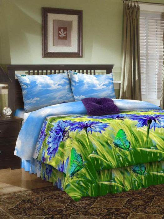 Комплект белья ROKO, 2-спальный, наволочки 70х70, цвет: голубой, зеленый, синий204Комплект белья ROKO состоит из простыни, пододеяльника и 2 наволочек. Для производства постельного белья используются экологичные ткани высочайшего качества. Бязь - хлопчатобумажная плотная ткань полотняного переплетения. Отличается прочностью и стойкостью к многочисленным стиркам. Бязь считается одной из наиболее подходящих тканей, для производства постельного белья и пользуется в России большим спросом.