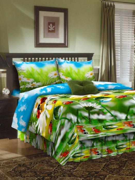 Комплект белья ROKO, 2-спальный, наволочки 70х70, цвет: голубой, зеленый, белый115901Комплект белья ROKO состоит из простыни, пододеяльника и 2 наволочек. Для производства постельного белья используются экологичные ткани высочайшего качества. Бязь - хлопчатобумажная плотная ткань полотняного переплетения. Отличается прочностью и стойкостью к многочисленным стиркам. Бязь считается одной из наиболее подходящих тканей, для производства постельного белья и пользуется в России большим спросом.