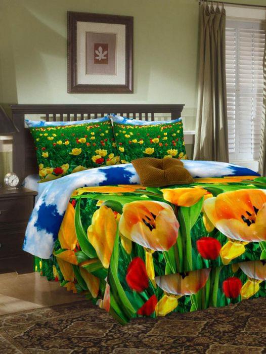 Комплект белья ROKO, евро, наволочки 70х70, цвет: зеленый, желтый, красный115908Комплект белья ROKO состоит из простыни, пододеяльника и 2 наволочек. Для производства постельного белья используются экологичные ткани высочайшего качества. Бязь - хлопчатобумажная плотная ткань полотняного переплетения. Отличается прочностью и стойкостью к многочисленным стиркам. Бязь считается одной из наиболее подходящих тканей, для производства постельного белья и пользуется в России большим спросом.