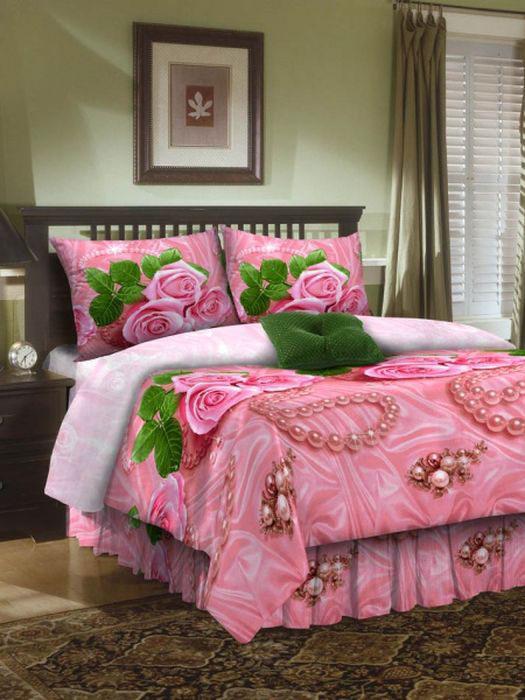 Комплект белья ROKO, евро, наволочки 70х70, цвет: розовый115914Комплект белья ROKO состоит из простыни, пододеяльника и 2 наволочек. Для производства постельного белья используются экологичные ткани высочайшего качества. Бязь - хлопчатобумажная плотная ткань полотняного переплетения. Отличается прочностью и стойкостью к многочисленным стиркам. Бязь считается одной из наиболее подходящих тканей, для производства постельного белья и пользуется в России большим спросом.