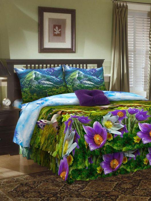 Комплект белья ROKO, семейный, наволочки 70х70, цвет: зеленый, сиреневый, голубой115920Комплект белья ROKO состоит из простыни, 2 пододеяльников и 2 наволочек. Для производства постельного белья используются экологичные ткани высочайшего качества. Бязь - хлопчатобумажная плотная ткань полотняного переплетения. Отличается прочностью и стойкостью к многочисленным стиркам. Бязь считается одной из наиболее подходящих тканей, для производства постельного белья и пользуется в России большим спросом.