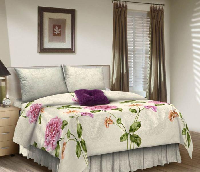Комплект белья ROKO, 1,5-спальный, наволочки 70х70, цвет: белый, розовый, зеленый115938Комплект белья ROKO состоит из простыни, пододеяльника и 2 наволочек. Для производства постельного белья используются экологичные ткани высочайшего качества. Поплин - это тонкая и легкая хлопчатобумажная ткань высокой плотности полотняного переплетения, сотканная из пряжи высоких номеров. При изготовлении поплина используются длинноволокнистые сорта хлопка, что обеспечивает высокие потребительские свойства материала. Несмотря на свою утонченность, поплин очень практичен – это одна из самых износостойких тканей для постельного белья.